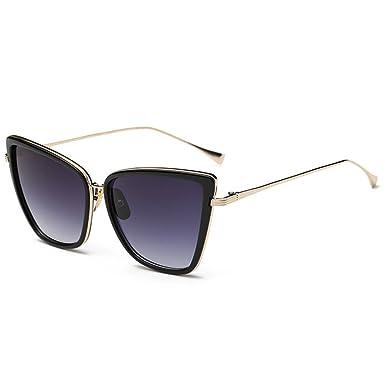 joopin fashion cat eye sunglasses women retro transparent frame brand sun glassesblack