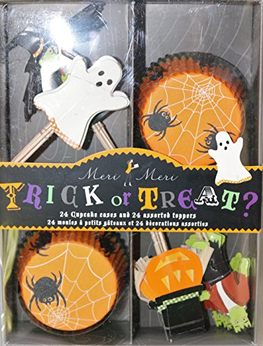 Meri Meri Halloween Trick or Treat Cupcake Decorating Kit Witch Ghost Toppers