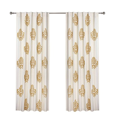 Pair Thermal Insulated Cotton Curtains - Sherwood Tap Top Curtains Home Decorations Thermal Insulated Cotton Drapes for Bedroom, 1 Pair (50