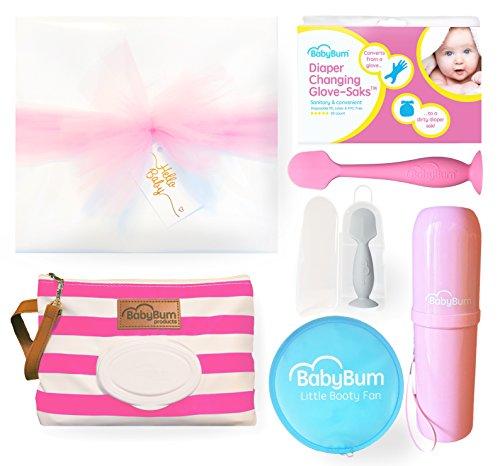 Girl Bum Box - Wrapped & Ready - Diaper Clutch, Diaper Cream Brush, More!