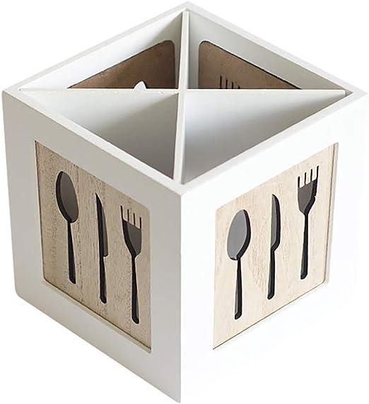Cesto Para Los Cubiertos Simple Caja De Almacenamiento Cubiertos ...