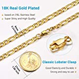 PROSTEEL Gold Figaro Chain Necklace for Jewelry