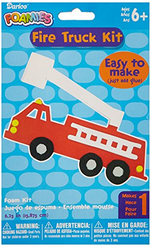 "Darice Foam Kit-Makes 1-Fire Truck 6.25"""