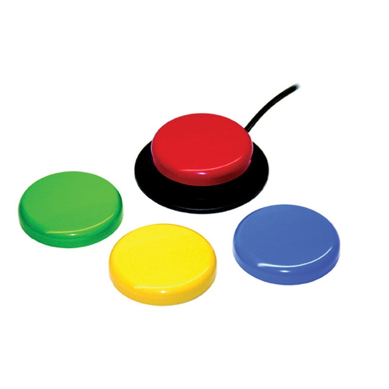 Jelly Bean Mechanical Switch, Accessible Button for Disabled and Handicapped People, with Limited Mobility, Lack of Coordination, and Special Needs, 4 different Button Colors, 2.5'' Button : 10033400