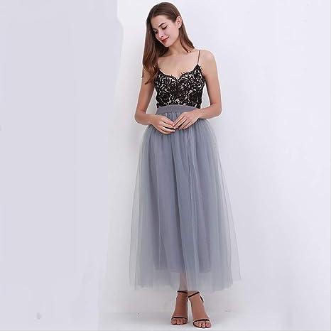 QYYDBSQ Primavera Verano Faldas Vintage para Mujer Elástico ...