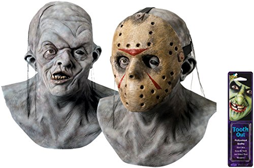 Mask Jason Adult Deluxe (Bundle: 2 Items - Jason Mask Deluxe and Free Pack of)