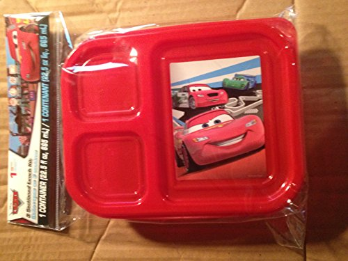 Disney Cars 3 Sectioned Lunch Kit Container with Lid