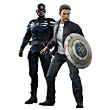 Captain America The Winter Soldier Movie Masterpiece Captain America & Steve Rogers 1:6 Collectible Figure Set