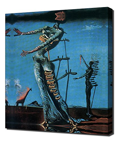 (Salvador Dali - Burning Giraffe - Canvas Art Print)