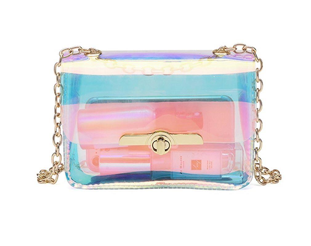 Amazon.com  Marchome Women Transparent Hologram Crossbody Purse Messenger  Bag Shoulder Bag  Shoes 23fc17780df1b