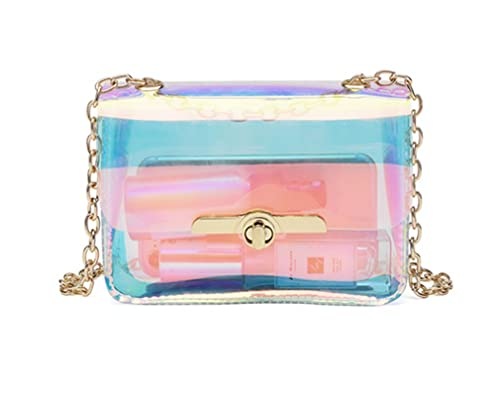 01e4697612 Amazon.com  Marchome Women Transparent Hologram Crossbody Purse Messenger Bag  Shoulder Bag  Shoes