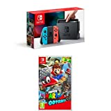 Nintendo Switch Neon Red/Blue with Super Mario Odyssey