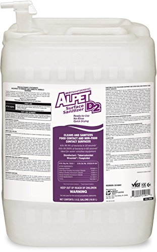 Best Sanitizers SS10002 Alpet D2 Surface Sanitizer, 5 Gallon Pail with Spigot by Best Sanitizers Inc