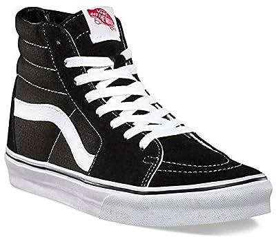 Vans Unisex SK8-Hi Black/Black/White VN000D5IB8C Mens 7.5, Womens 9