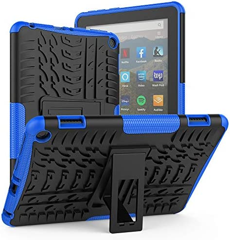ROISKIN for Kindle Fire HD 8 Case 2020 Release tenth Generation Fire 8 Plus Case, Dual Layer Anti-Slip Shockproof Armor Case with Kickstand