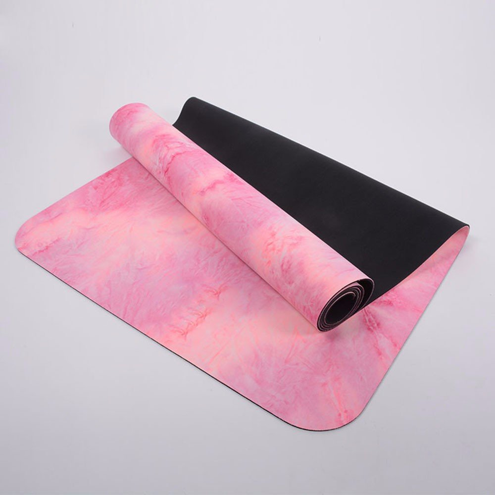 SJQKA-Anti Slip Lengthening, Soft Fitness Pad, Tasteless, Veteran Type Sports Suede Rubber Rubber Mat,Pink by SJQKA-yoga mat