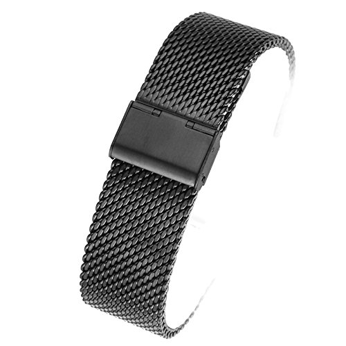 Milanese-Loop-Stainless-Steel-Watch-Band-Smart-Watch-Strap-Mesh-Band-22mm24mm-with-Hook-Buckle-Replacement-Wristbands-Bracelets-Silver-or-Black