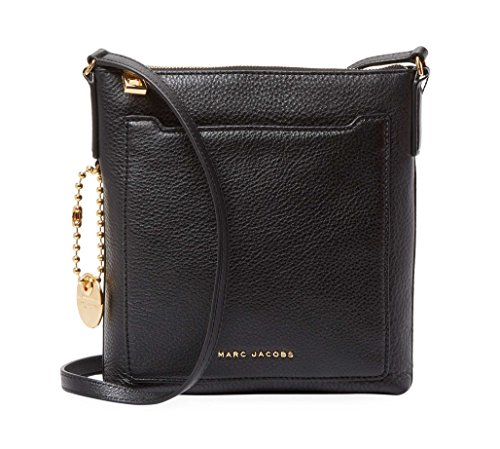 Marc Jacobs Leather Crossbody Bag (Black) ()