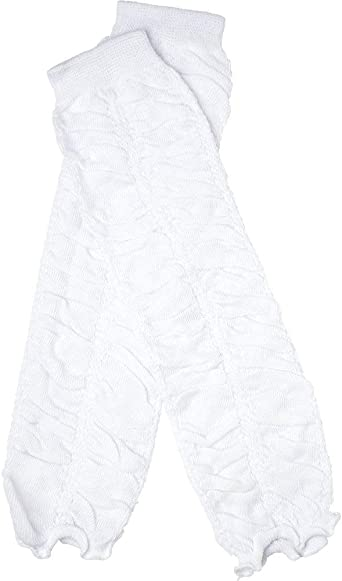 toddler Leg warmers White with Silver Sequin Ruffle baby girls