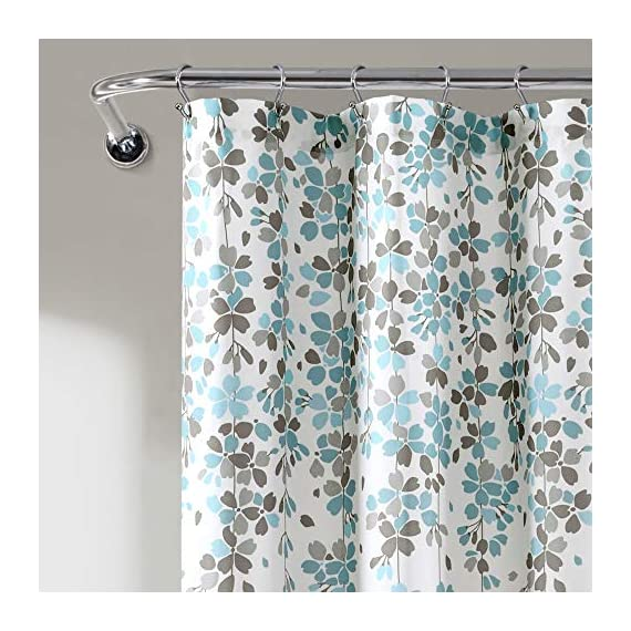 Lush Decor, Blue and Gray Weeping Flower Shower Curtain-Fabric Floral Vine Print Design, x 72 - Soft, 100% polyester fabric shower curtain with a delicate floral design. Calming, decorative design with cascading flowers create a charming shower curtain for any bathroom. Lush Décor Weeping Flower shower curtain features a delicate vine-like design for your traditional or minimalist style bathroom decor. - shower-curtains, bathroom-linens, bathroom - 51xISoGg1gL. SS570  -