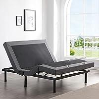 Classic Brands Adjustable Comfort Upholstered Bed Base w/Massage