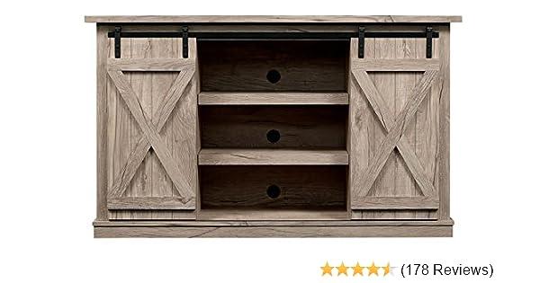 Amazon.com: Comfort Smart Wrangler Sliding Barn Door TV Stand, Ashland Pine:  Kitchen U0026 Dining
