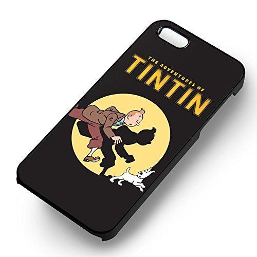 Tintin et Snowy pour Coque Iphone 6 et Coque Iphone 6s Case (Noir Boîtier en plastique dur) P1Q8LX