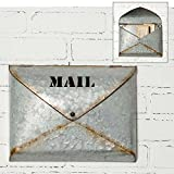 Rustic Metal Wall Mount Envelope Mailbox