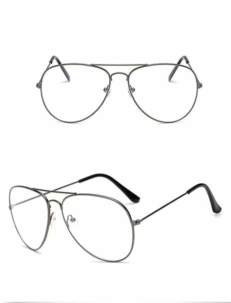 d1b35bd354f Waymeduo Vogue Brille Nerd brille Retro Rund Unisex Gold Linse breite