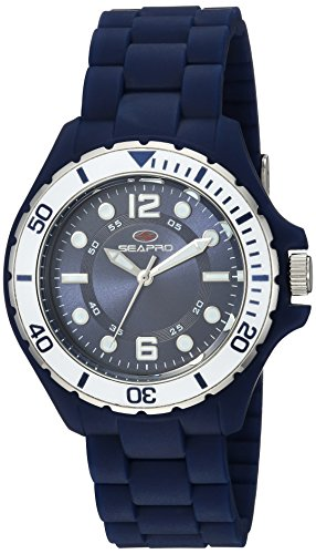 Christian Van Sant Women's 'Spring' Quartz Stainless Steel and Silicone Casual Watch, Color:Blue (Model: SP3217)