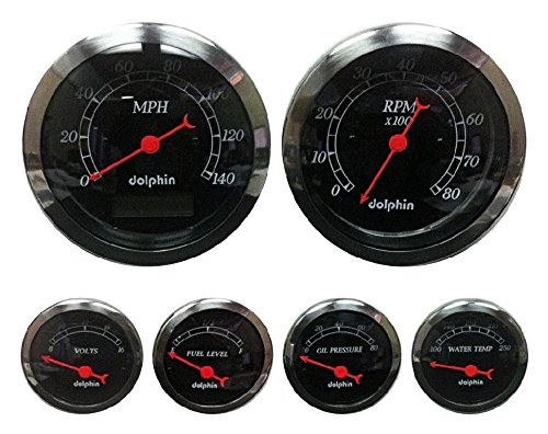 Dolphin Gauges 6 Gauge Programmable Set product image