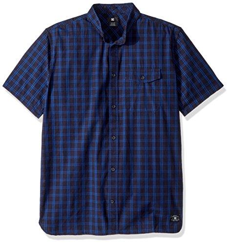 DC Men's Atura SS, Washed Indigo, L (Flap Pocket Shirt)