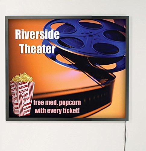 Displays2go 18 x 24 InchesThin LED Light box with Black Aluminum Snap-Open Frame (LPLED1824B)