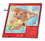 soireehome Winebuff – Spain Edition – Large Micro Fiber Polishing Towel for Crystal-Clear, Streak-Free, Polished Wine Glasses – 20 x 20 Inch Wine Educational Notes and Detailed Regional Wine Maps