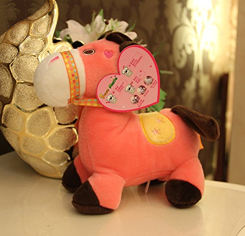 Amazon.com : Aliexpress new 12 seconds recording boxed lovely horse plush toys wholesale cute 18*13cm pp cotton sounding soft toy kids dolls : Baby
