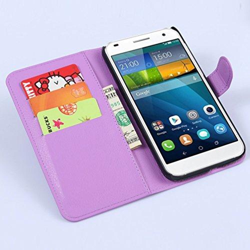 Manyip Funda Huawei Ascend G7,Caja del teléfono del cuero,Protector de Pantalla de Slim Case Estilo Billetera con Ranuras para Tarjetas, Soporte Plegable, Cierre Magnético(JFC6-1) F