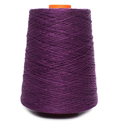 (Linen Yarn Cone - 100% Flax Linen - 1 LBS - Reddish Purple - 3 PLY - Sewing Weaving Crochet Embroidery - 3.000 Yard)