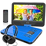 WONNIE 10.5 Inch Portable DVD Player for Kids with Swivel Screen, 4 Hours
