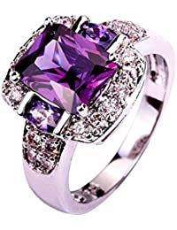 925 Sterling Silver Created Pink Topaz Filled Halo Promise Ring