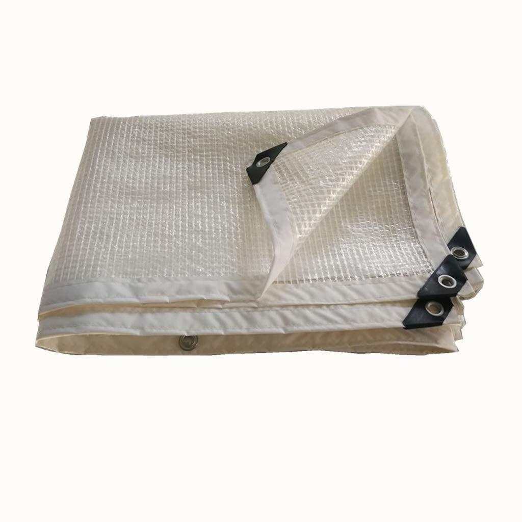 XY&CF-tarpaulin Isoliermaschengewebe Dicke transparente Einfassung perforierte Markise, Wasserdichte Plane, Verschiedene Größen 130G   M²