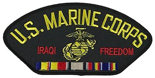 (U.S. MARINE CORPS IRAQI FREEDOM VETERAN W/ COMBAT ACTION RIBBON PATCH - Multi-colored - Veteran Owned Business)