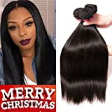 QinMei Brazilian Hair Straight 8A Grade 10 12 14 inches 100% Unprocessed Virgin Human Hair 3 Bundles Weave Natural Color