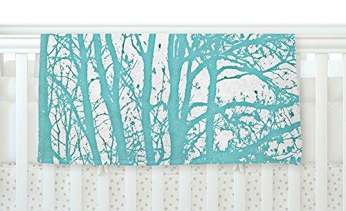 KESS InHouse Monika Strigel Mint Trees Fleece Baby Blanket 40 x 30 40 x 30 MS2019ABB01