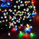SolarDuke Solar LED String Lights Multi Color 200 LED Outdoor Fairy Lights With 8 Flashing Modes
