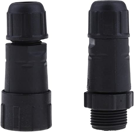 Almencla Connettore Cavo Impermeabile Alta qualit/à con Connettore M14 2//3//4 Pin Nero 3 Poli