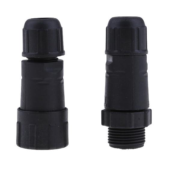 3-Pin Noir 4 Broches Almencla Gamme De C/âbles De Connecteur De C/âble De Fil /étanche IP67 5.5mm-7.5mm 2-Pin 4-Pin