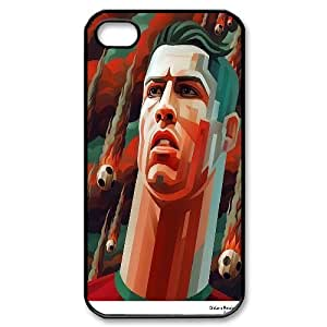 iPhone 4/4s Cases Cristiano Ronaldo Abstract Drawing For Boys, Iphone 4s Case Men Bloomingbluerose, [Black]