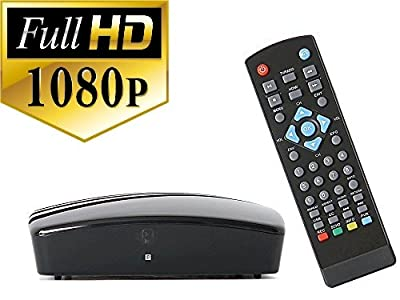 Digital TV Converter Box for viewing and recording HD digital channels for FREE (Instant or Scheduled Recording, DVR, 1080P HDTV, HDMI Output, 7 Day Program Guide) – Comes with RF and RCA cable