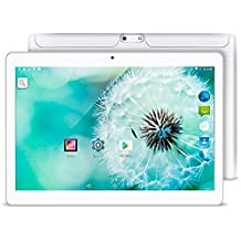 Teléfono celular Yuntab 10,1 pulgada, 3G Wifi Tablet PC Quad Core Android 5.1 Lollipop MTK 16G Smart Phone 2G 3G Wifi aleación de metal negro Google Tablet IPS 1280X800 Bluetooth GPS, Blanco