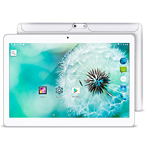 10.1 Inch Android 5.1 Tablet Dual SIM Card Slots Cell Phone Tablet PC 2G/3G/Wifi 1GB+16GB MTK 6580 Quad-Core IPS 800x1280 Touch Screen by Yuntab